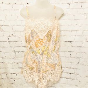 VICTORIAS SECRET FLORAL PINK LACE COTTON ROMPER